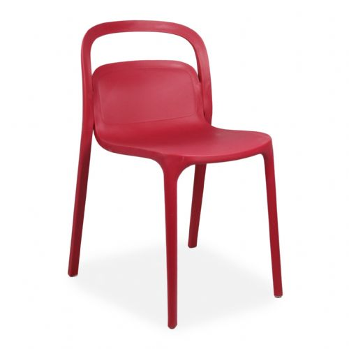 Plastic Stackable Red Smith1 Chairs
